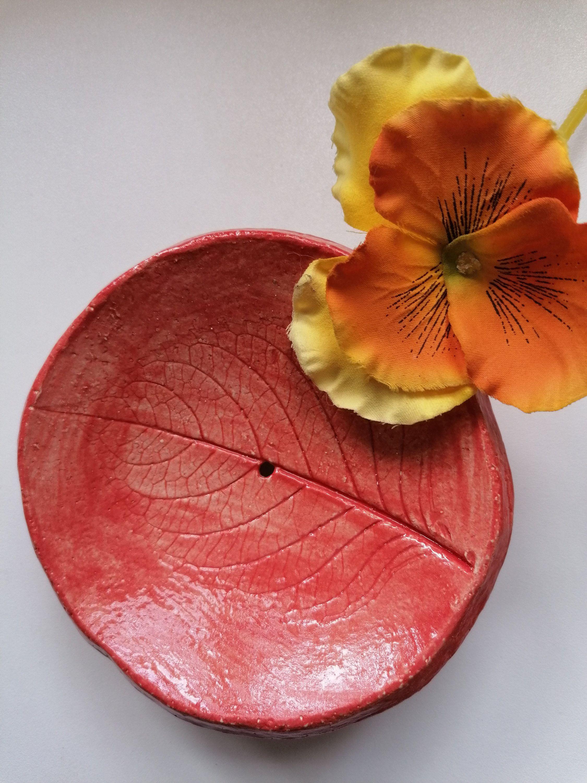 Seifenschale Keramik rot Badezimmer Seife Seifenablage  Etsy