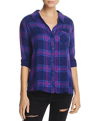 4957939a Rails Taitum Plaid Shirt | Bloomingdale's | Bloomingdales ...