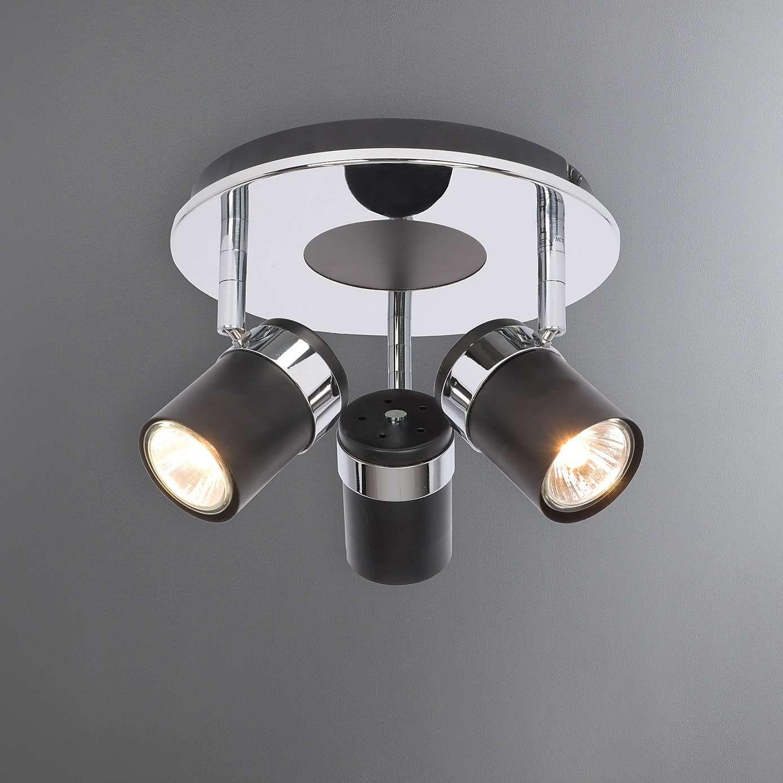 Talis Chrome 3 Light Spotlight Flush Lighting 5 Light
