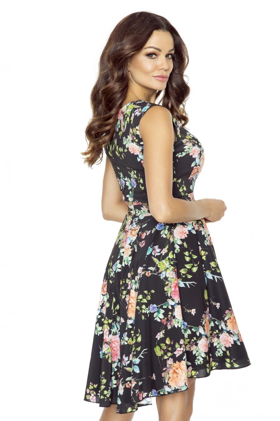 Zwiewna Letnia Sukienka Szyfonowa W Kwiaty Km233 Fashion Dresses Casual Dress