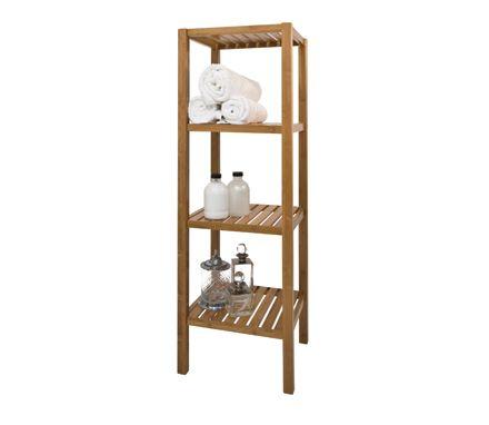 Walnut Bathroom Shelf Unit - 4 Tier | Bathroom | Pinterest ...