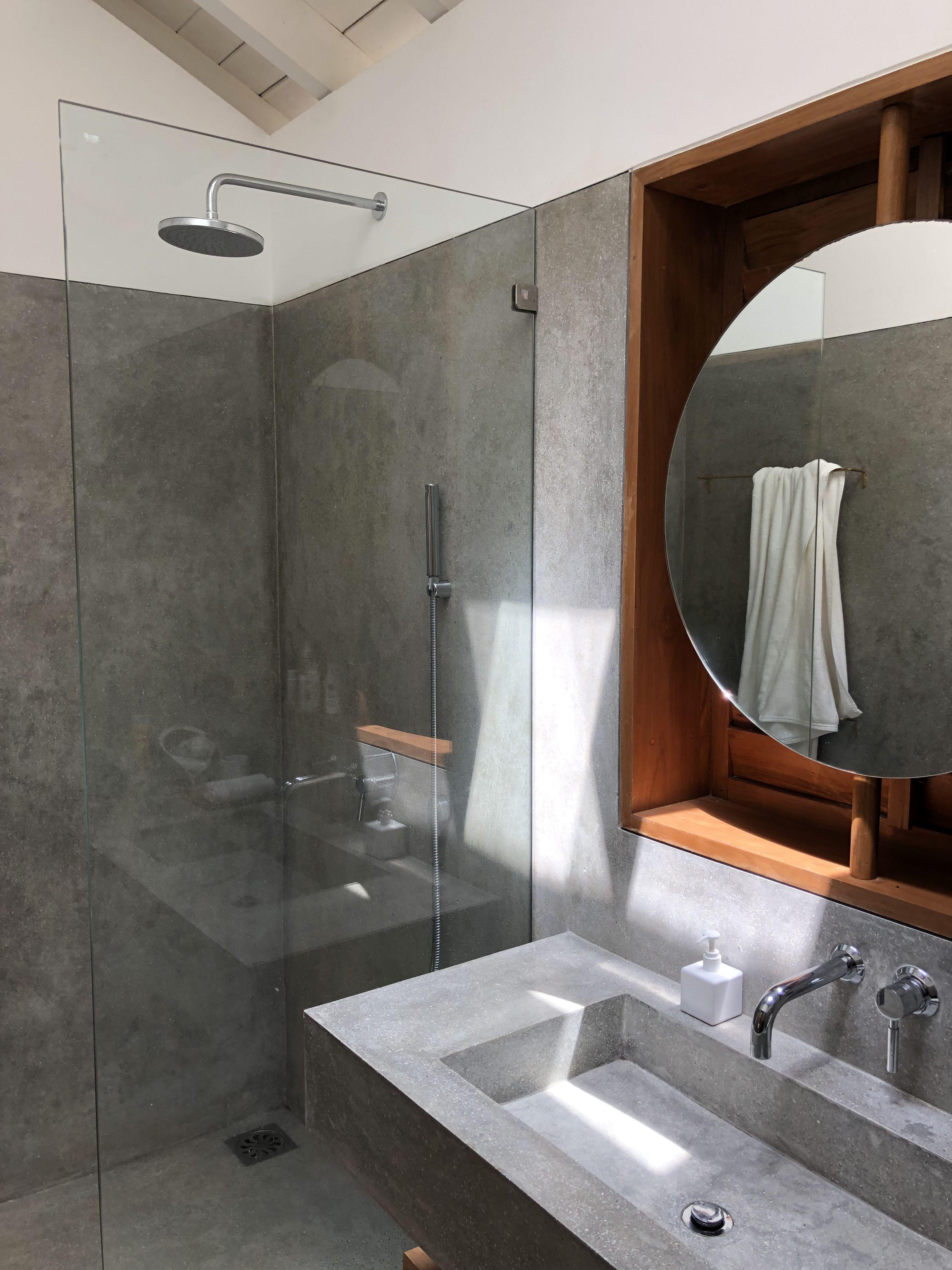 Concrete Bathroom At K House In Sri Lanka Concrete Bathroom Tropical Bathroom House Home bathroom design sri lanka