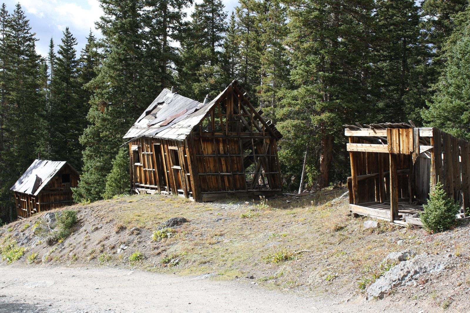 Alta, Colorado. Ghost mining town. Abandoned cities