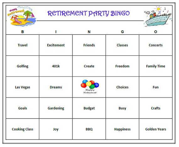 photo relating to Retirement Party Games Free Printable titled Retirement Celebration Bingo Activity (30 Playing cards) Retirement Bingo