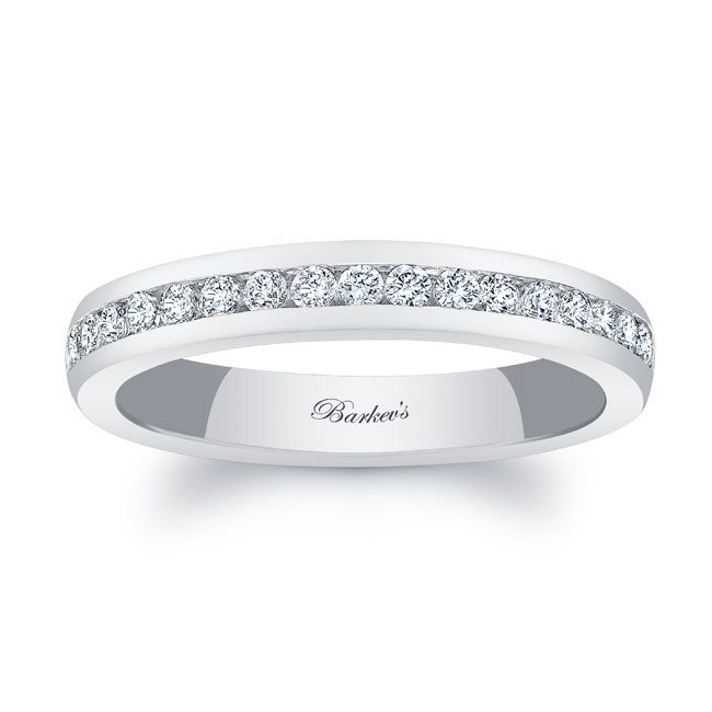997facd35 Barkev's White Gold Diamond Wedding Band 8109W_3MM | Barkev's in ...