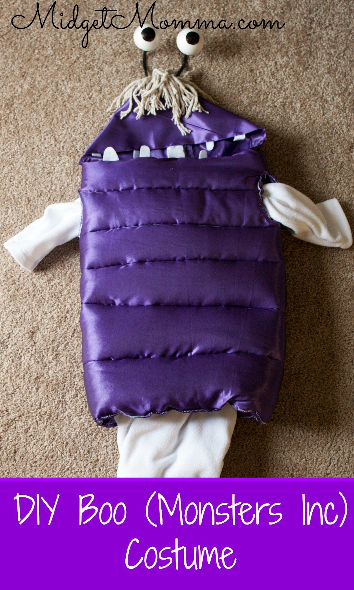 Diy Boo From Monster Inc Costume Monster Inc Costumes Halloween Costume Monster Monsters Inc Halloween Costumes