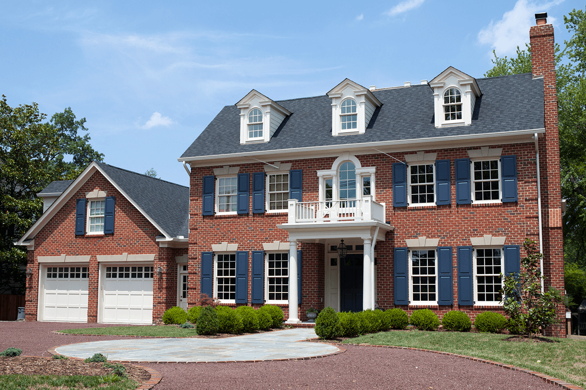 Stunning Exterior Paint Colors For Brick Homes Wow 1 Day Painting In 2020 Colonial Exterior Federal Style House Dream House Exterior