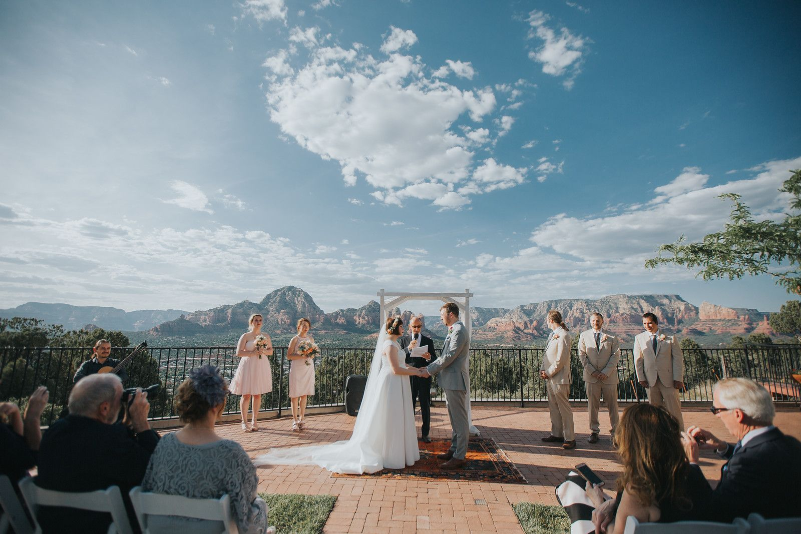 Leah Max Marry At Sky Ranch Lodge Heart Of Sedona Weddings Photo R Gonzalez Floral Mountain High Flowers M Sedona Arizona Sedona Wedding Sedona