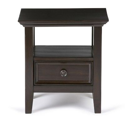Miraculous Halifax Solid Wood End Table Dark Brown Wyndenhall In 2019 Camellatalisay Diy Chair Ideas Camellatalisaycom