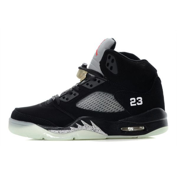 info for f0b23 03e76 Women s Air Jordan 5 Glow in the Dark Black Grey ( 70) ❤ liked on Polyvore  featuring shoes, jordans, sneakers, grey shoes, gray shoes, glow in the  dark ...