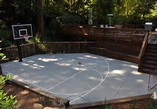 Image Result For Image Of Basketball Hoop On Cement Pad In Backyard