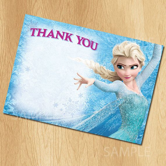 Frozen Thank You Card - INSTANT DOWNLOAD Printable Disney Frozen