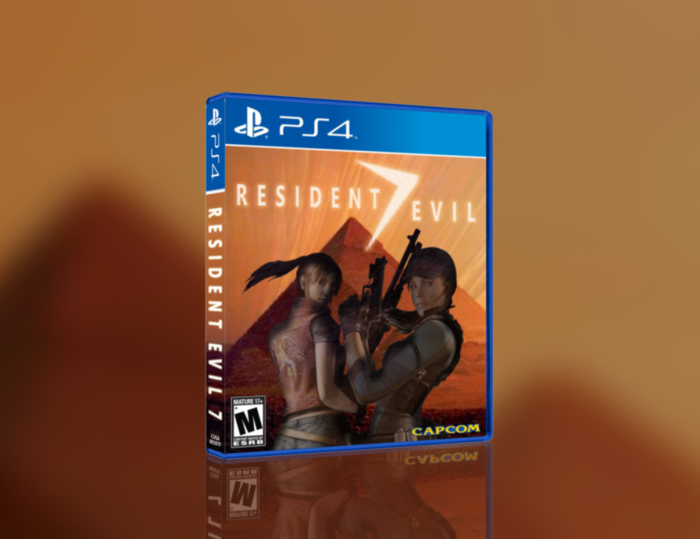 resident evil 7 playstation 4 box art cover by jengasoft