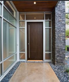 contemporary front entry door with transom window - Google Search