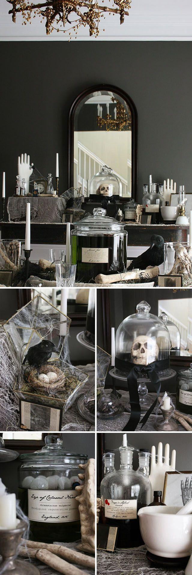 I\u0027m always drawn to black and aged white Halloween decor Classy and - black and white halloween decorations