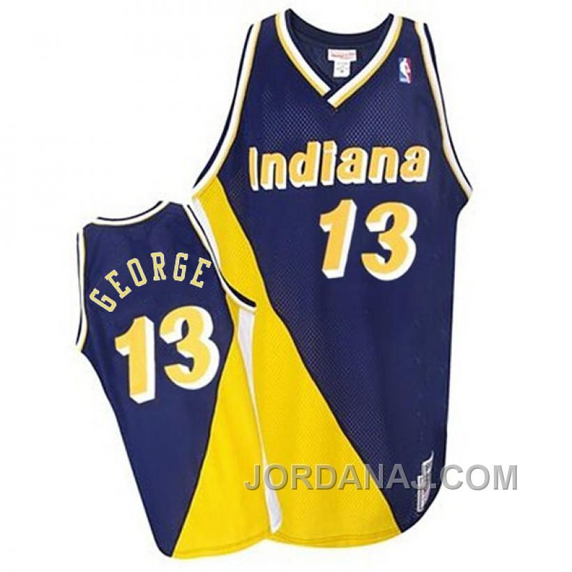 Get Mitchell and Ness Indiana Pacers Authentic Gold Reggie Miller Navy   Throwback Jersey - Men s From the Official Pacers Store 5e6b7af13891