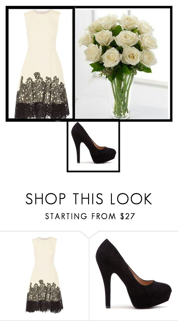 """White Roses"" by fabulousthedesigner ❤ liked on Polyvore featuring Lela Rose"