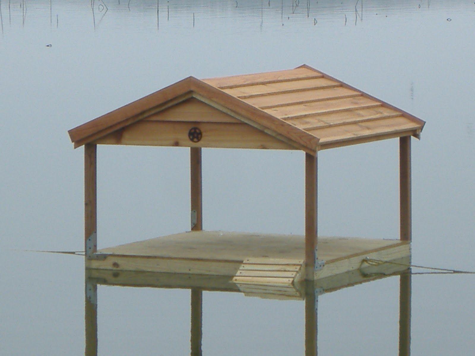 Custom floating duck house 005 jpg 1 600 1 200 pixels for Duck and goose houses