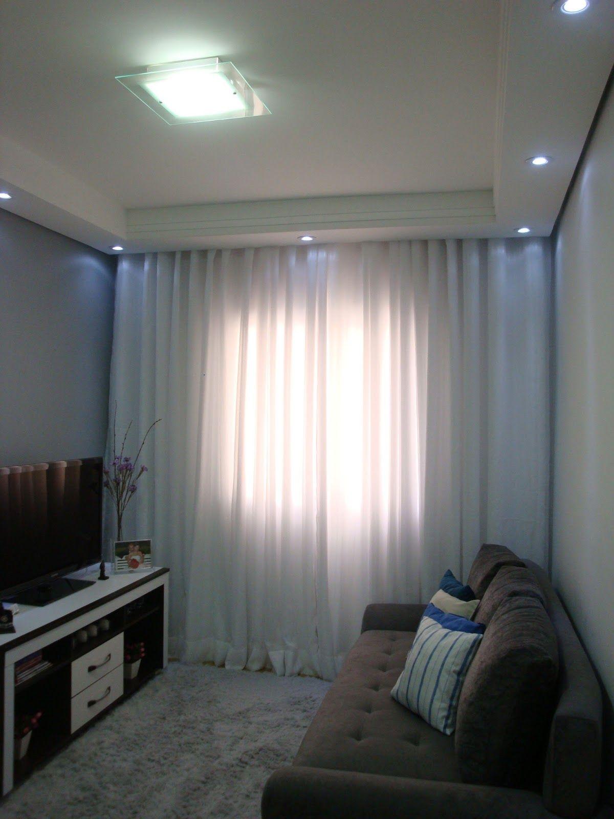 O Ambiente Ideal Cortina Faz Toda Diferen A Decora O  -> Cortina Sala Apartamento
