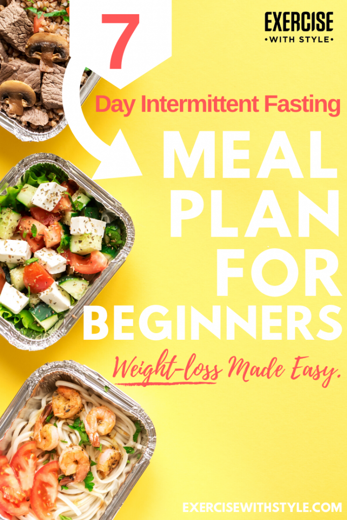 Done-for-you 7-day Intermittent Fasting meal plan for beginners. 7 different recipes for breakfast,...