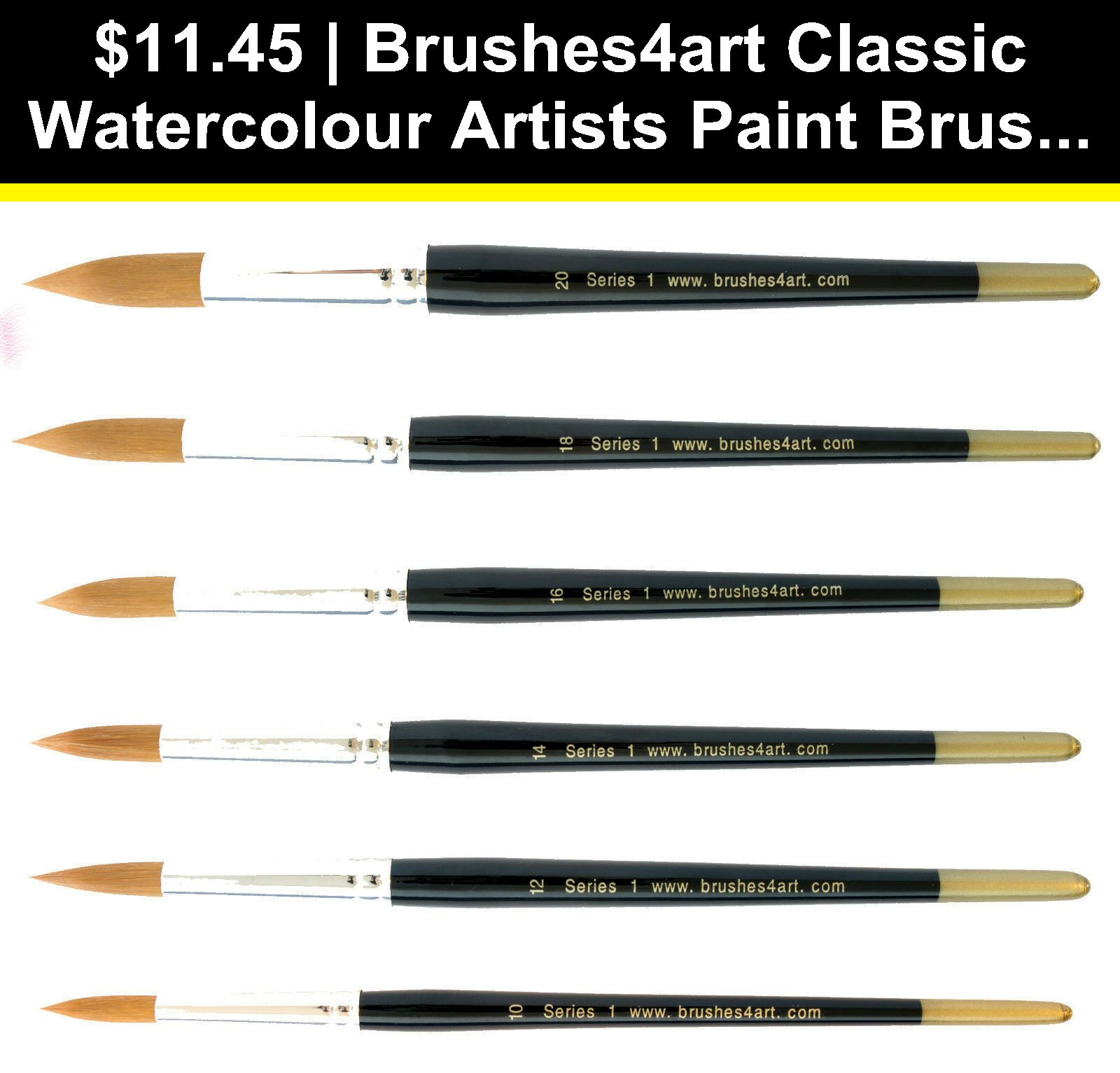 Artists Brushes 57209 Brushes4art Classic Watercolour Artists
