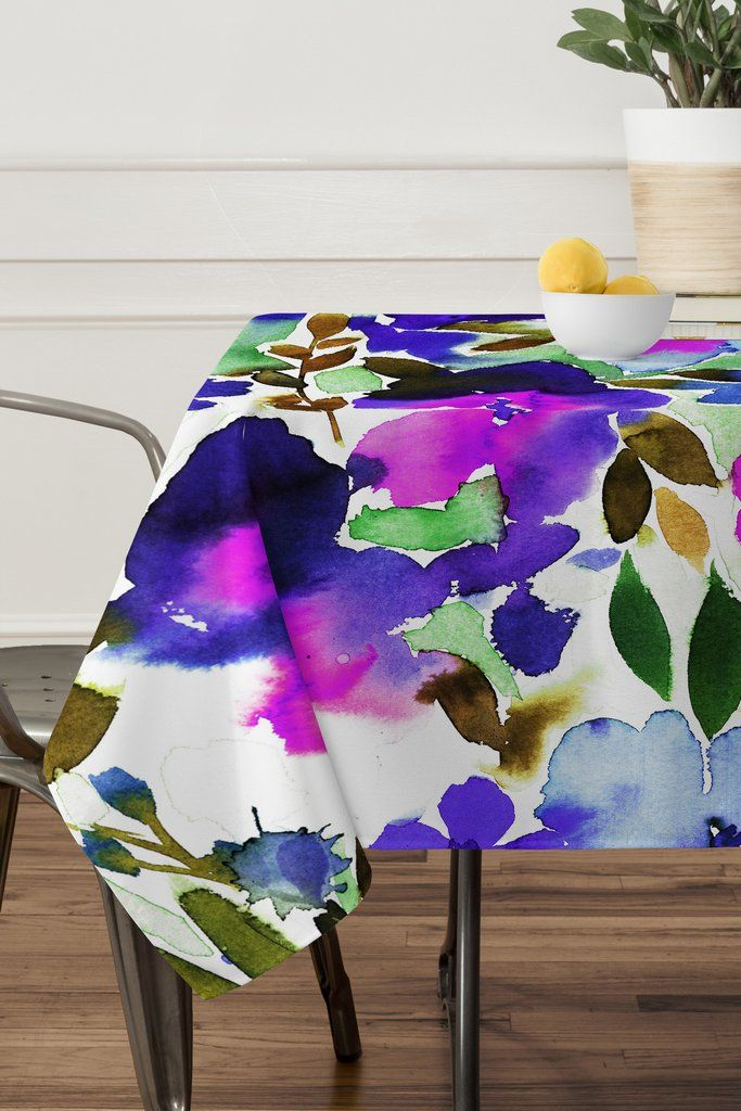 Amy Sia Evie Floral Olive Tablecloth | DENY Designs Home Accessories