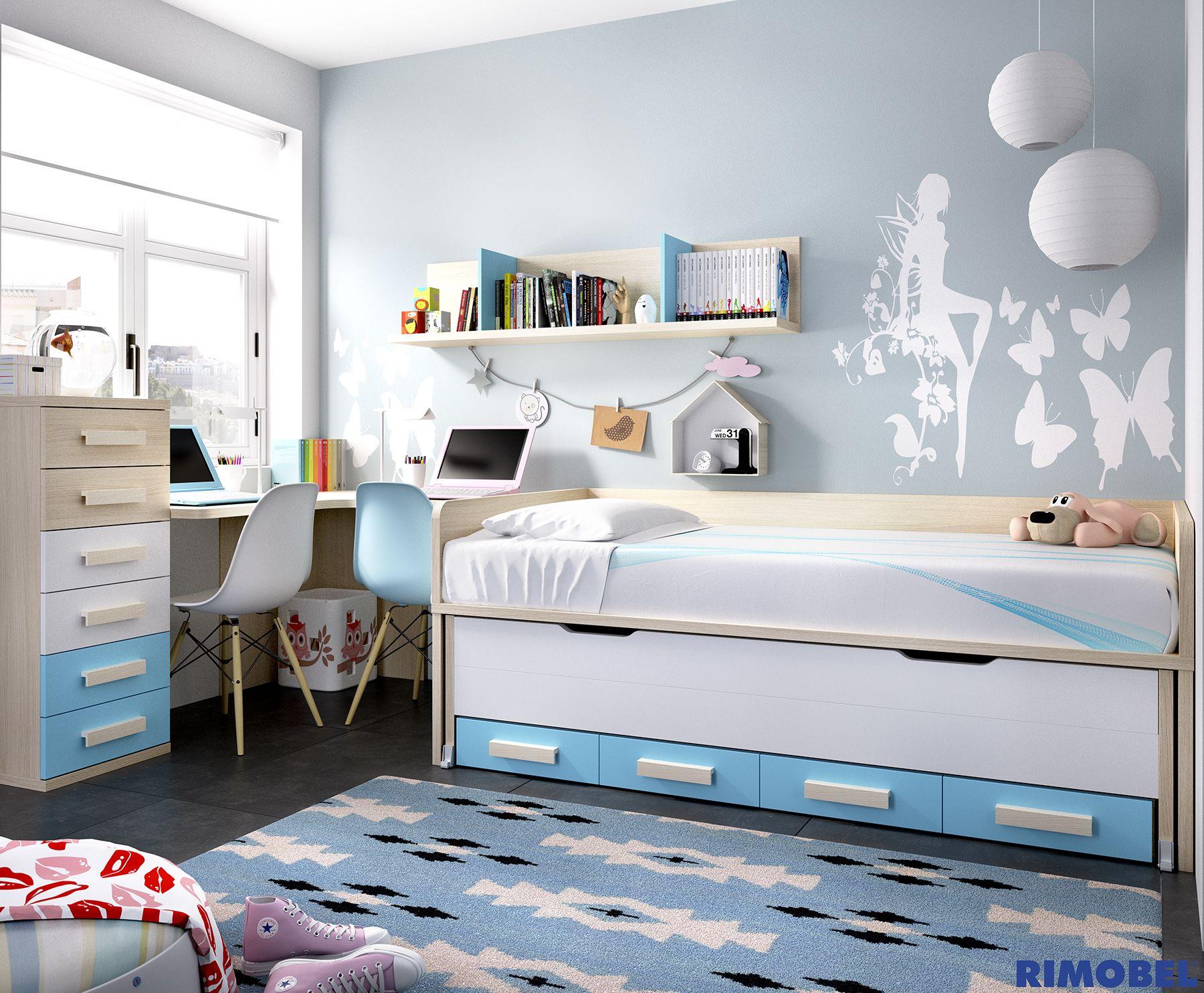 H 158 habitaci n juvenil m s sencilla pero no por ello for Mundo mueble vigo