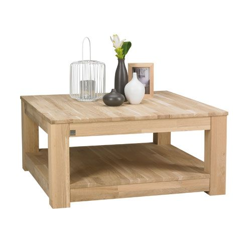 Table Basse Carree En Bois Chene Clair Storm Decoclico Table Basse Table Basse En Pin Table Basse Carree