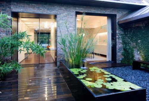 water feature outdoor home