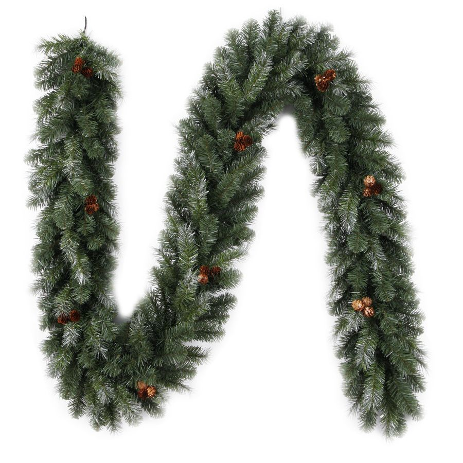 Lowes Christmas Garland.Shop Holiday Living 9 Ft Unlit Indoor Outdoor Pine Madison