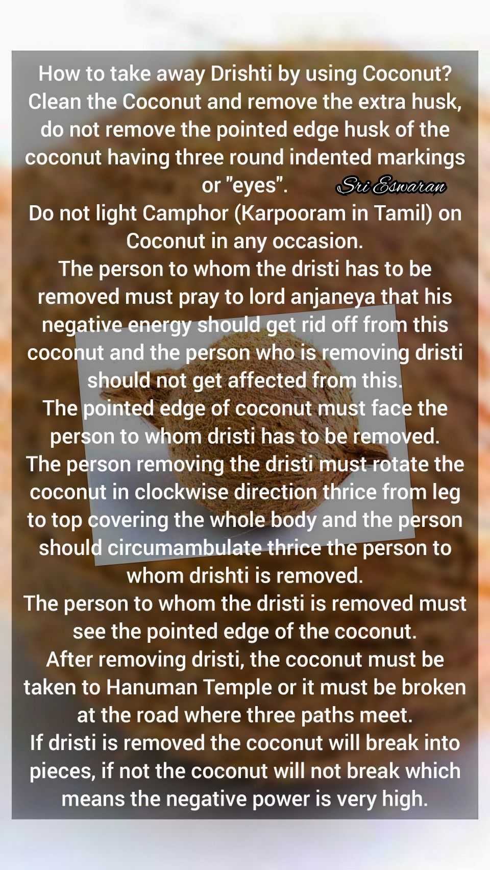 How to take away Drishti by using Coconut? Clean the Coconut