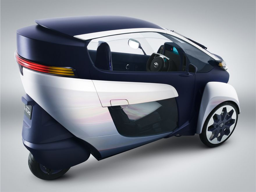 ultra compact tandem two seater electric vehicle toyota. Black Bedroom Furniture Sets. Home Design Ideas