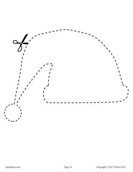 10 Printable Christmas Shapes Cutting Worksheets Worksheets