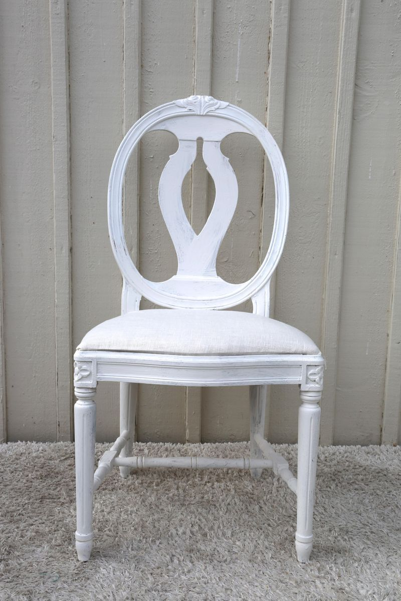 Antique swedish gustavian style dining chairs with oval