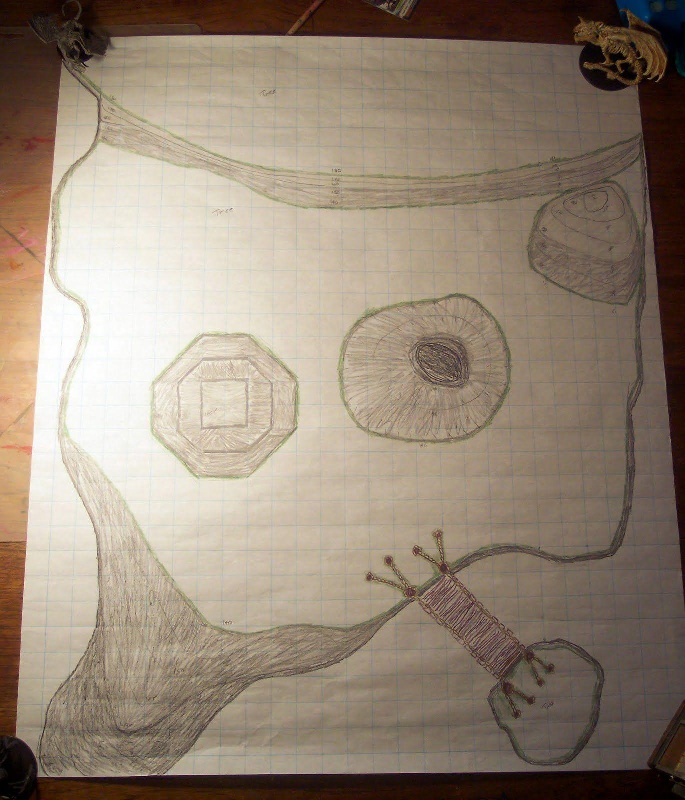 Forgotten Runes: Cliff Top Battle Map