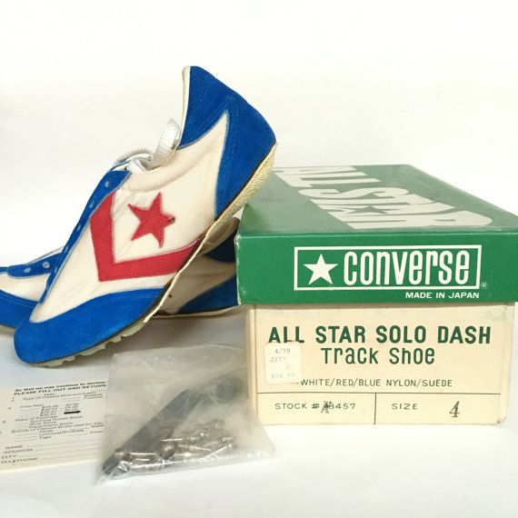 Very Rare Vintage 1975 Converse All Star Solo Dash Track Shoe Red White and  Blue Nylon/Suede 18457 Size 4 | Converse, Star and Sportswear
