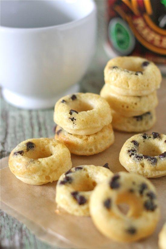 Mini Chocolate Chip Doughnut Pancake Dippers, #Chip, #Chocolate, #Mini, #Pancake