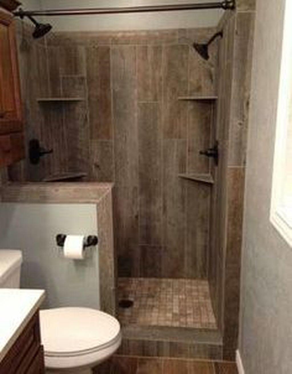 47 Modern Small Bathroom Remodel Design Ideas Small Rustic