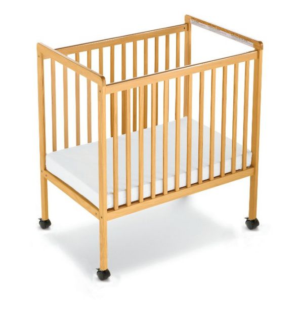 1632040 Safetycraft Compact Size Fixed Side Crib Clearview