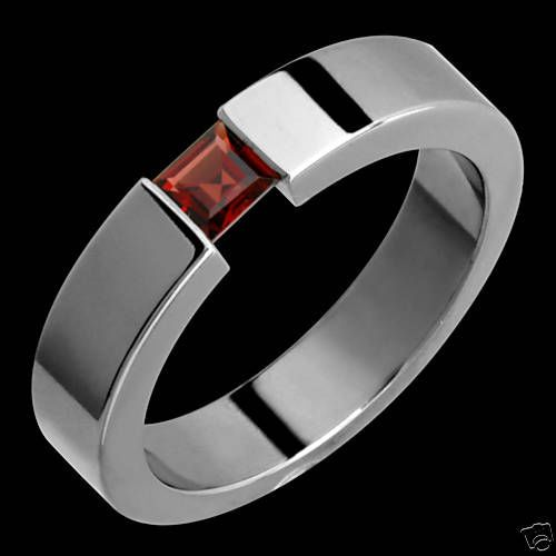 New 5mm Womens Mens Anium Ring Garnet Wedding Band Limited Qty Available Alainraphael Withgemstones
