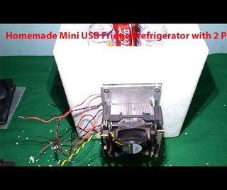 Homemade Mini USB Fridge Frefrigerator With Peltier Cooler
