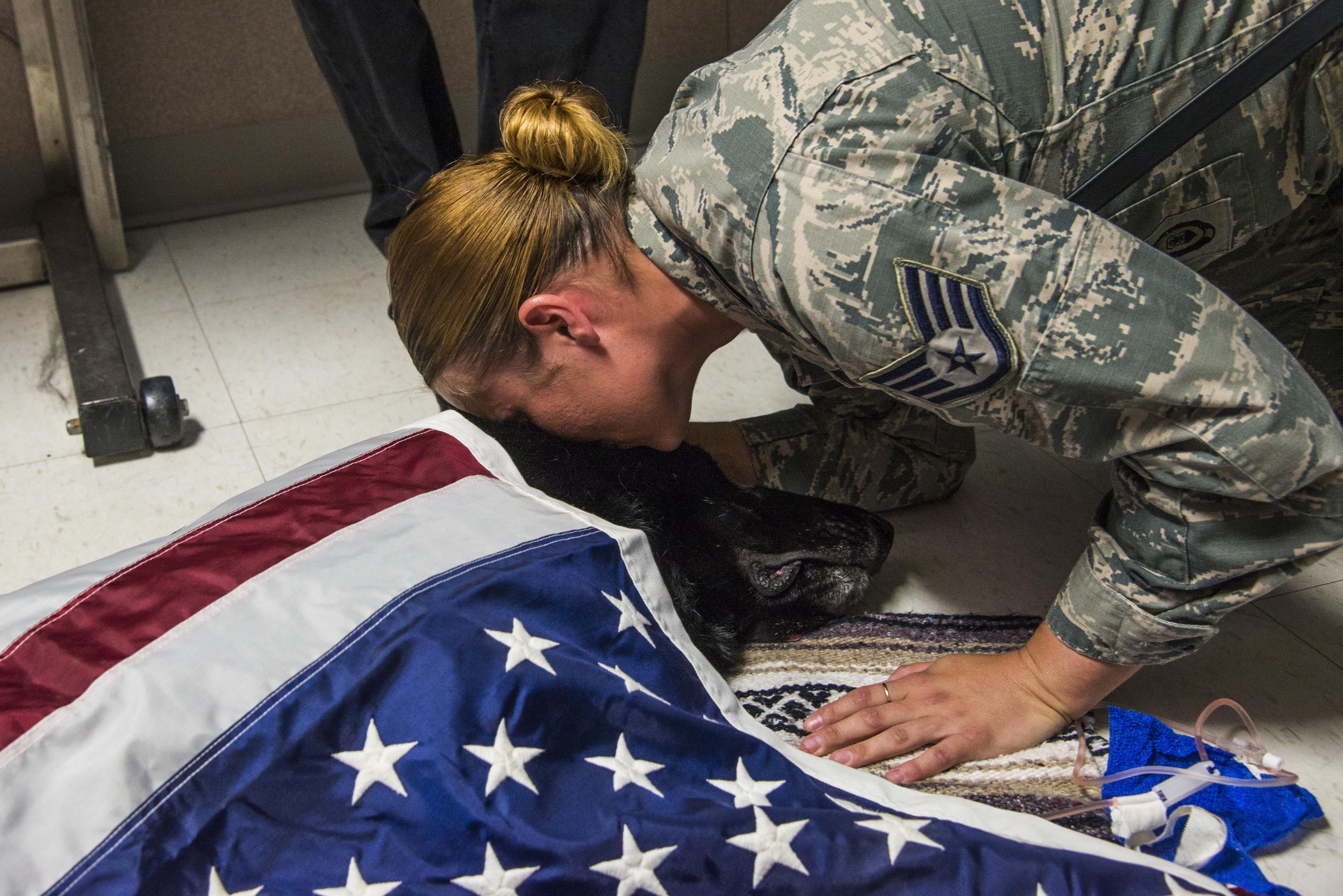 The 375th Security Forces Squadron personnel said goodbye