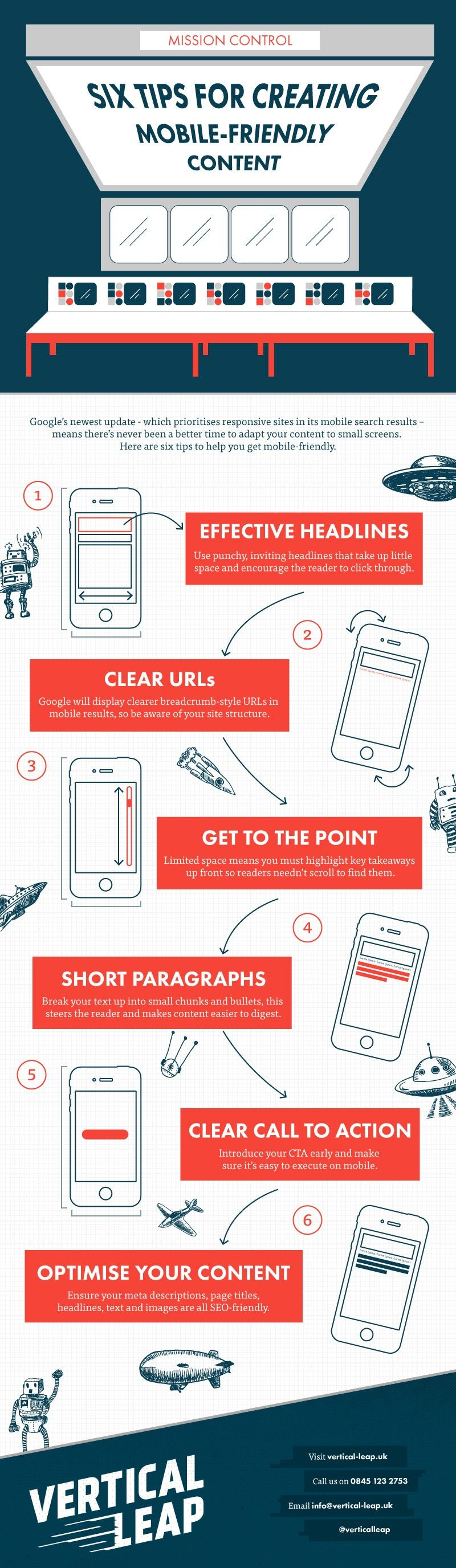 6 tips for creating mobile-friendly content - #infographic