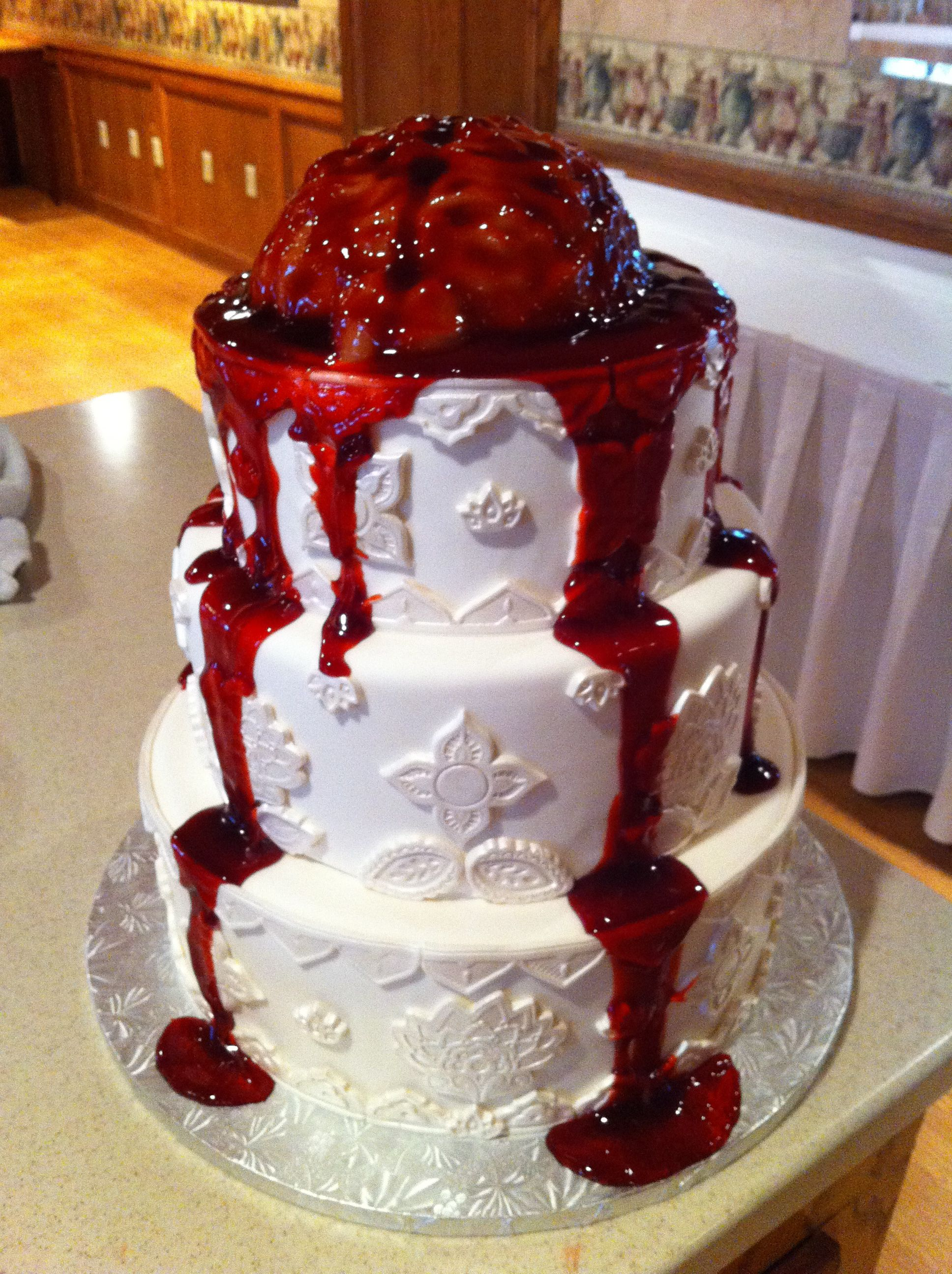 Zombie Brains Wedding Cake By Renay Zamora Unknown Original Design Sweetface Cakes Nashville Tn