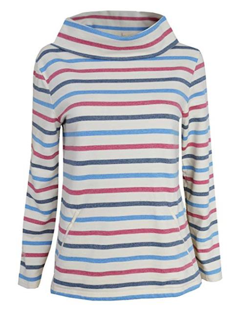 24f2cea7b9 Seasalt ex 8-20 Boslowick Off White Pink Blue Striped Nautical Sweatshirt  316