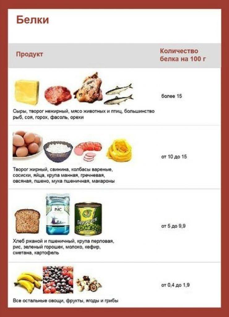 Какие продукты надо есть на белковой диете