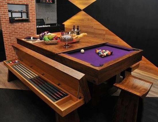 Modern Furniture Billiard Tables Transformer Ideas For Small Es