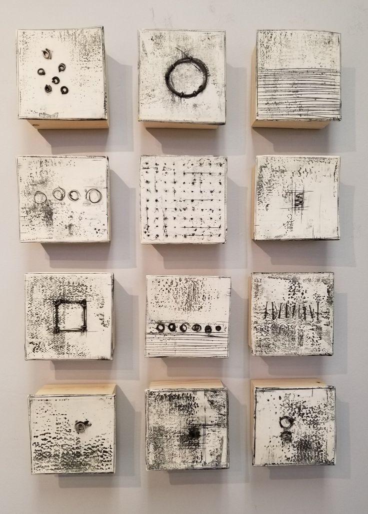 Black and White II by Lori Katz (Ceramic Wall Sculpture) in 2020 | Abstrakte kunst bilder, Kleine le