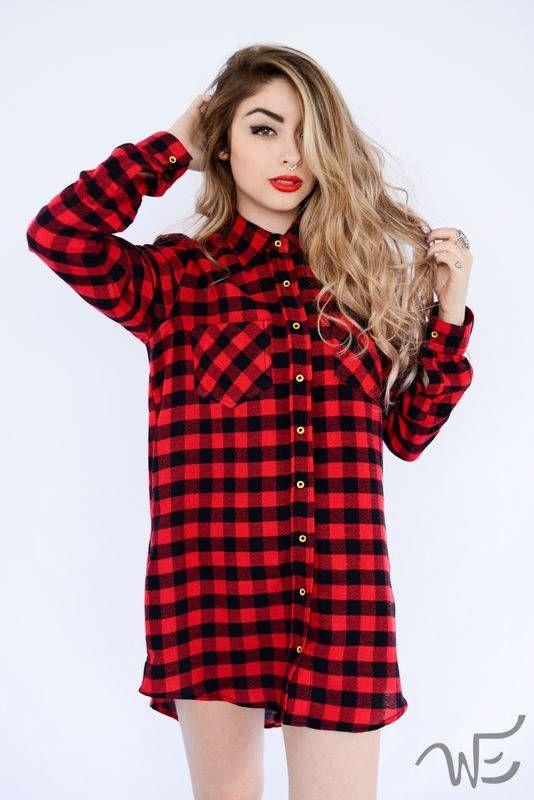 872ebf9ca Camisão Xadrez Vermelho WE8480 Blusa Xadrez Feminina, Camisa Feminina,  Xadrez Chess, Camisas Xadrez