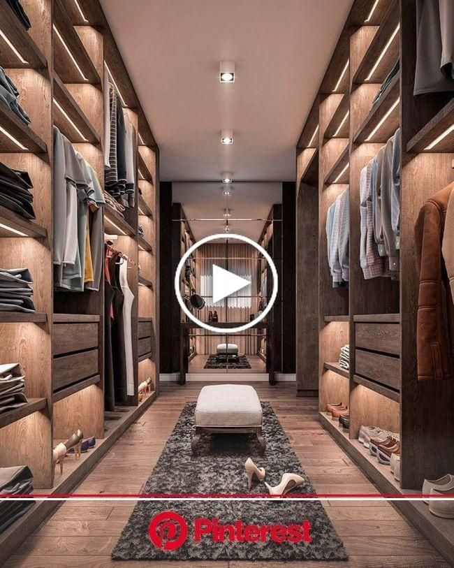 38 Wonderful Walk In Closet Design Ideas With Low Budget (2020) | Modern closet designs, Dream